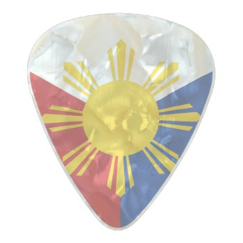 Philippines Flag Elements Pearl Celluloid Guitar Pick by BeetifulWorld at Zazzle