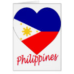 Philippines Flag Heart Greeting Card
