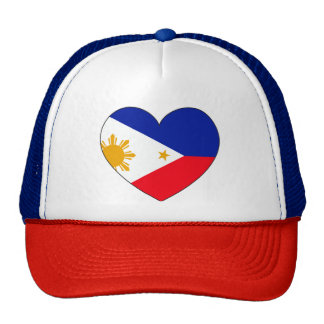 Philippines Flag Heart Trucker Hat