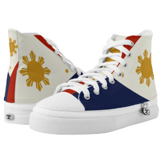 Philippines flag hightops shoes. High-Top sneakers