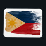 "Philippines Flag Magnet<br><div class=""desc"">Original flag design looks like it was painted on! Commemorate your world travels, celebrate your heritage or show everyone how much you love your home! This image is available on a variety of products. Check out all of our other designs at http://www.zazzle.com/zipperedflags Do you have a request or questions? Contact...</div>"