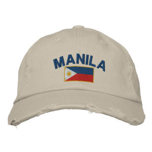 Philippines Flag Manila Embroidered Baseball Hat 87917d37cd1