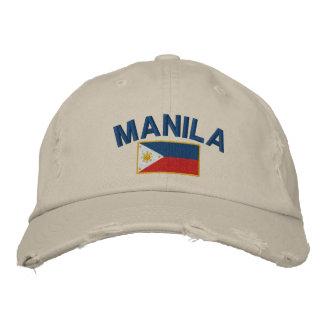 Philippines Flag Manila Embroidered Baseball Cap