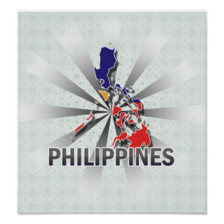 Philippines Flag Map 2.0 Poster