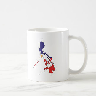 Philippines flag map coffee mugs