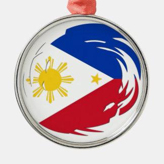 Philippines Flag Metal Ornament