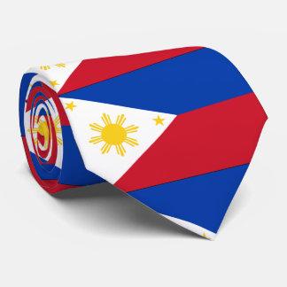 Philippines flag neck tie