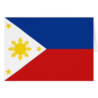 Philippines Flag Notecard Greeting Cards