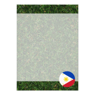 Philippines Flag on Grass Card