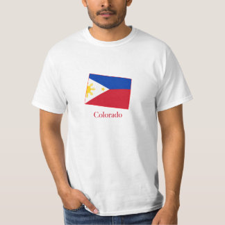 Philippines flag over Colorado map Shirt
