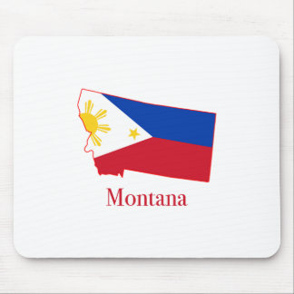 Philippines flag over Montana state map Mouse Pad