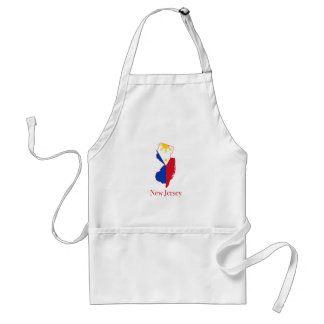 Philippines flag over New Jersey state map Adult Apron