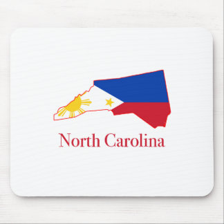 Philippines flag over North Carolina state map Mouse Pad