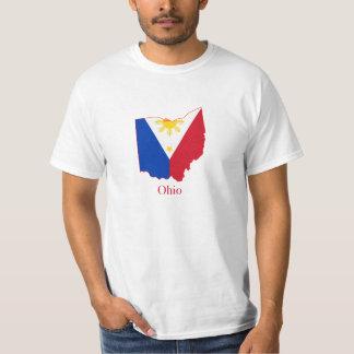 Philippines flag over Ohio map T-Shirt