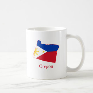 Philippines flag over Oregon state map Coffee Mug