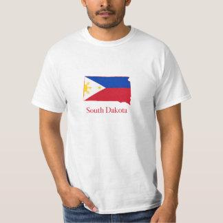 Philippines flag over South Dakota map T Shirt