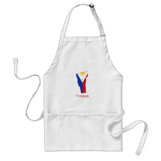 Philippines flag over Vermont state map Adult Apron