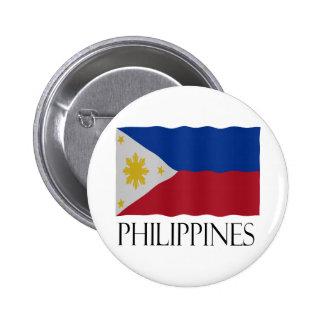 Philippines flag pinback button