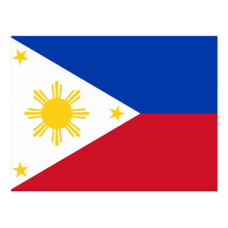 Philippines Flag Postcard