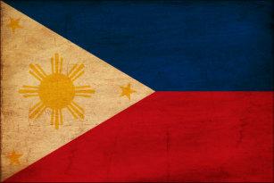 Philippines Flag Art Framed Artwork