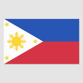 Philippines Flag Rectangular Sticker