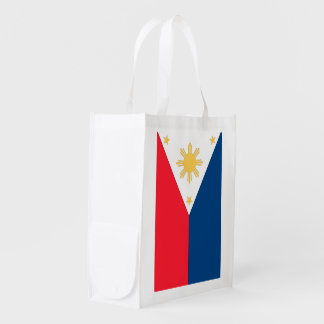 Philippines Flag Reusable Grocery Bag
