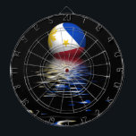 "Philippines Flag rising/setting. Dartboard<br><div class=""desc"">Philippines Flag rising/setting.</div>"