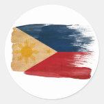 Philippines Flag Round Stickers