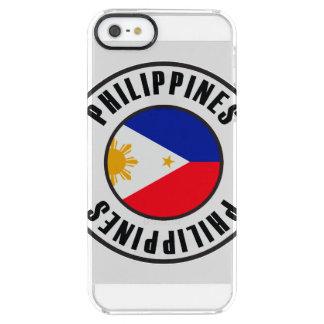 Philippines Flag Simple Dark Clear iPhone SE/5/5s Case