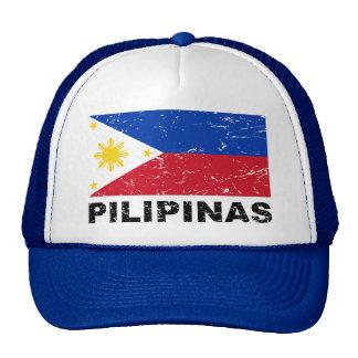 Philippines Flag Vintage Trucker Hat