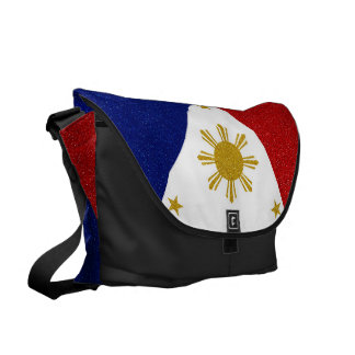 Philippines Glitter Flag Courier Bag