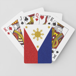 Philippines Glitter Flag Playing Cards