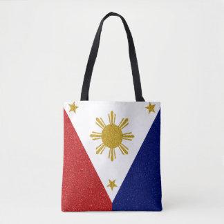 Philippines Glitter Flag Tote Bag