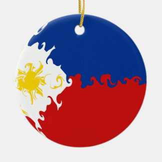Philippines Gnarly Flag Ceramic Ornament