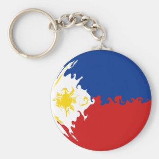 Philippines Gnarly Flag Basic Round Button Keychain
