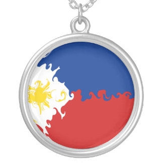 Philippines Gnarly Flag Silver Plated Necklace