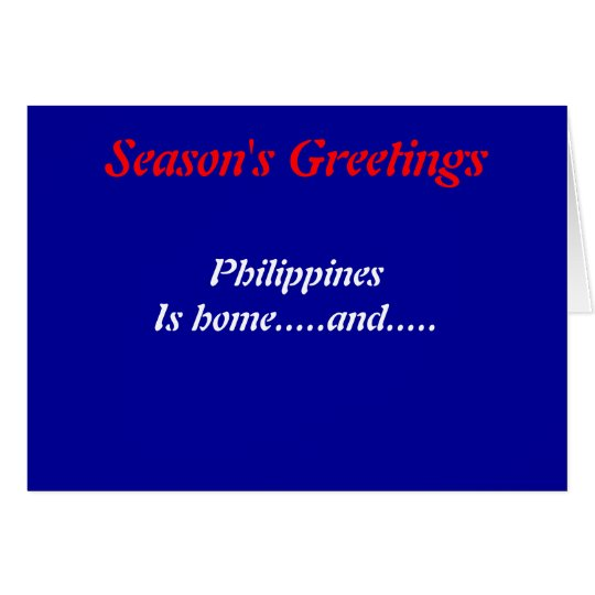 Philippines greetings cards