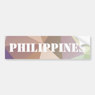 Philippines in Stencil Bumper Sticker