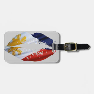 Philippines kiss luggage tag