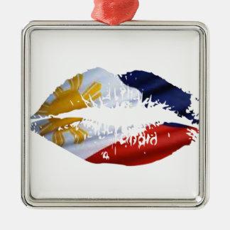Philippines kiss metal ornament