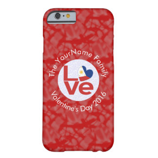 Philippines LOVE White on Red Barely There iPhone 6 Case