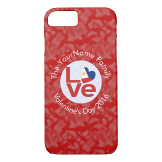 Philippines LOVE White on Red iPhone 7 Case