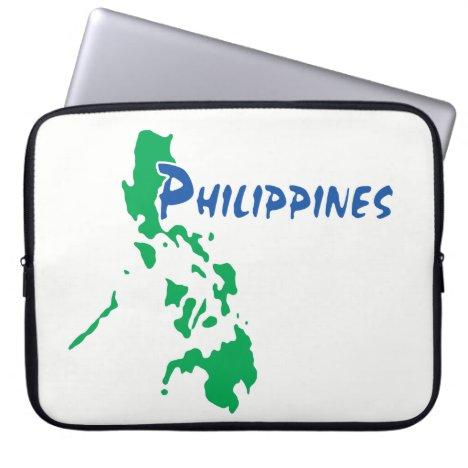 Philippines Map Laptop Sleeve