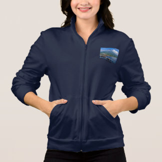 Philippines Mayon Volcano - Fleece Zip Jogger Jacket