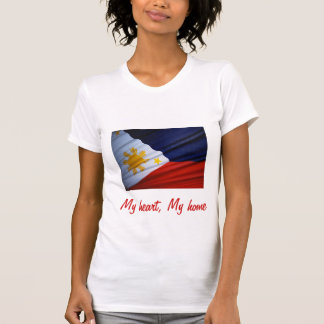 Philippines my heart my home t-shirts