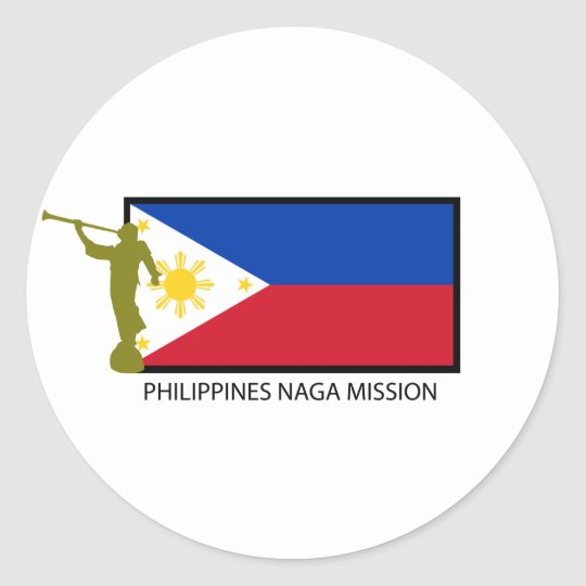 PHILIPPINES NAGA MISSION LDS CTR CLASSIC ROUND STICKER
