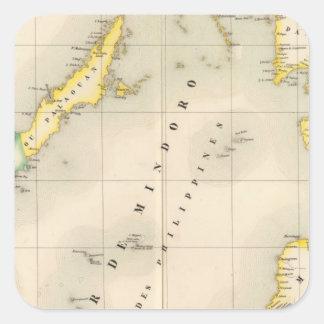 Philippines Oceania no 6 Square Sticker