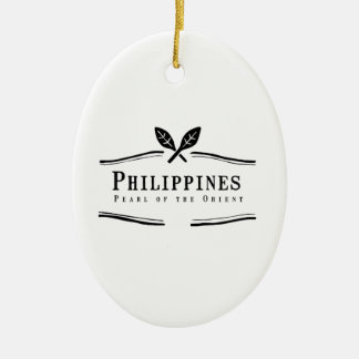 Philippines Pearl of the Orient Ceramic Ornament