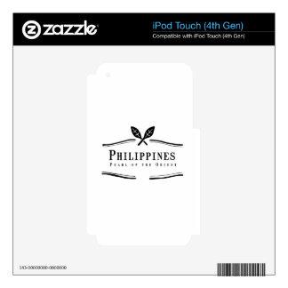Philippines Pearl of the Orient Decals For iPod Touch 4G