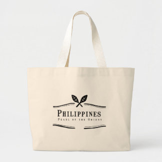 Philippines Pearl of the Orient Large Tote Bag